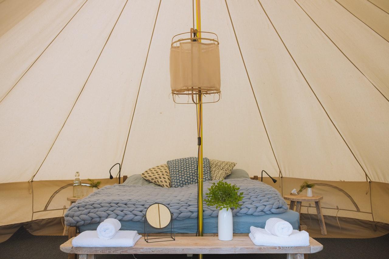glamping, yurt, tent
