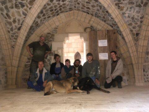 medieval building, construction, volunteer, volunteering, voluntouring, voluntourism, learning, education, team, free, hospitality, exchange, program