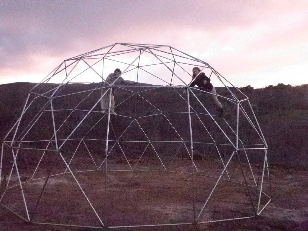 geodesic dome, volunteering, building, construction, diy, food and accommodation, hospitality, portugal